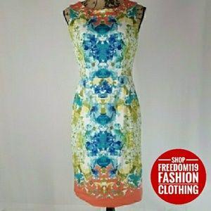 Nine West | Hawaii Floral Sheath Dress (Size 10)